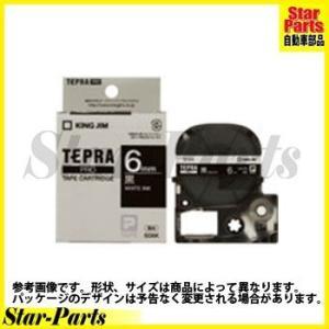 テプラPRO テープカートリッジ 黒に白文字6ミリ幅 SD6K キングジム|star-parts