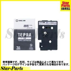 テプラTR テープカートリッジ 黒文字9ミリ幅 TT9KM キングジム|star-parts