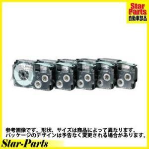 ネームランド テープカートリッジ 白に黒文字12ミリ幅 XR-12GWE カシオ計算機|star-parts