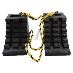 ハイプラ歯止め  D-1型  黒2個  ロープ付 日本ボデーパーツ工業 JB JBPRO NBI