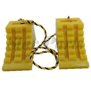 ハイプラ歯止め  D-1型  黄2個  ロープ付 日本ボデーパーツ工業 JB JBPRO NBI