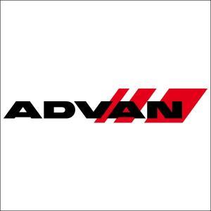 ADVAN(アドバン) 抜き文字ロゴステッカー Mサイズ ブラック|star5