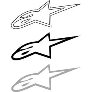 アルパインスターズ ロゴマークステッカー Lサイズ 抜き文字|star5