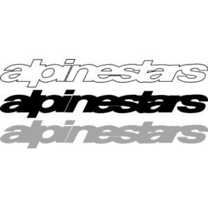アルパインスターズ ロゴステッカー Mサイズ 抜き文字|star5