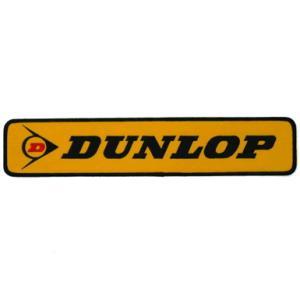 DUNLOP ダンロップ ワッペン イエロー Lサイズ 6.5cm×33cm|star5