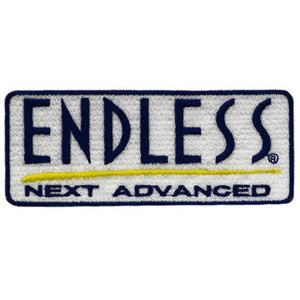 ENDLESS エンドレス ワッペンエンブレム ホワイト 5cm×12cm|star5