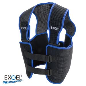 EXGEL エクスジェル  リブプロテクターベスト ブラック レーシングカート用|star5