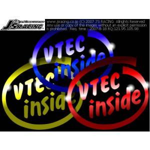 VTEC inside 抜き文字ステッカー Sサイズ|star5