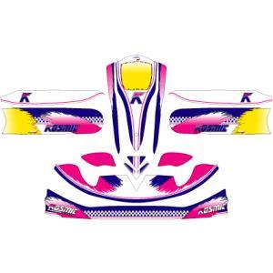 カウルステッカー KOSMIC コスミック M4カウル用 レーシングカートパーツ|star5