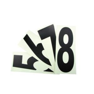 ナンバーステッカー 黒文字タイプ レーシングカートパーツ|star5