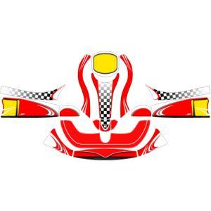 カウルステッカー オリジナルモデル フリーライン用(オーダー可能!) レーシングカートパーツ|star5