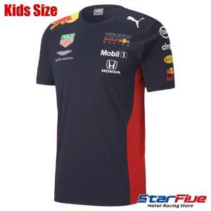 プーマ レッドブルレーシング Tシャツ キッズサイズ AMRBRチーム 2020年モデル PUMA RedBull|star5