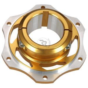 リヤブレーキディスクハブ/Φ50 GOLD レーシングカートパーツ star5