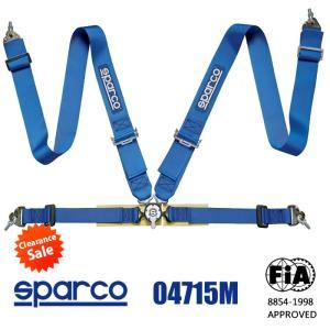 Sparco スパルコ シートベルト 04715M 4点式ハーネス FIA 8854-1998公認(生産終了モデル)|star5