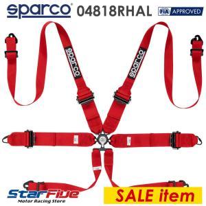 スパルコ 6点式シートベルト 04818RHAL ツーリングカー用 FIA8853-2016公認 Sparco 2018年製造モデル|star5