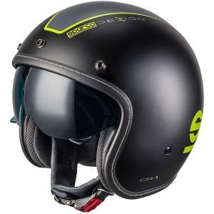 スパルコ ジェットヘルメット CR1 ブラック 2輪用|star5
