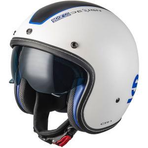 スパルコ ジェットヘルメット CR1 ホワイト 2輪用|star5