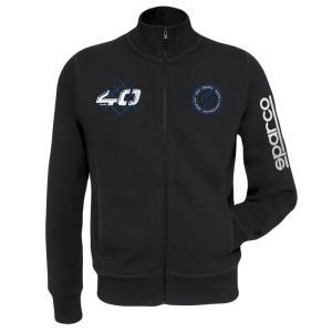 スパルコ ジップアップトレーナー 40th ブラック Sparco|star5