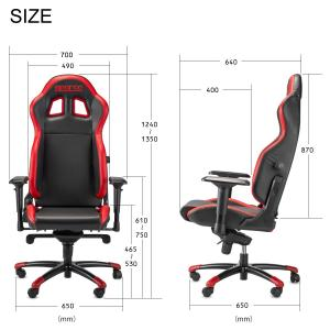 スパルコ ゲーミングチェア GRIP オフィスチェア リクライニング バケットシート 座椅子 耐荷重100kg Sparco|star5|12