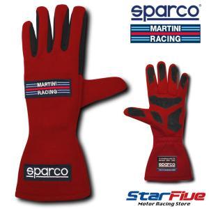 スパルコ レーシンググローブ 4輪用 マルティーニレーシング レッド 内縫い FIA公認 Sparco MARTINI RACING|star5