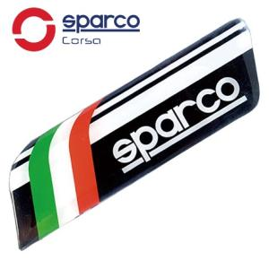 Sparco CORSA(スパルコ コルサ)3Dエンブレムステッカー イタリア/ブラック|star5