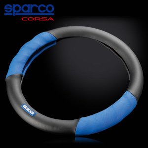 Sparco CORSA(スパルコ コルサ) ステアリングカバー レザー/ブルー star5