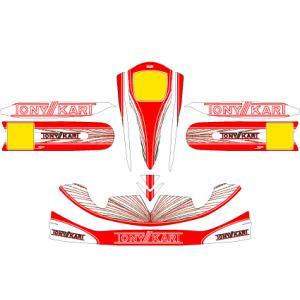 カウルステッカー TONYKART レッド M4カウル用 レーシングカートパーツ|star5