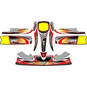カウルステッカー オリジナルデザイン KG-UNICO用 レーシングカートパーツ|star5