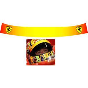 ヘルメット バイザーステッカー Ferrari ロッシ仕様 star5