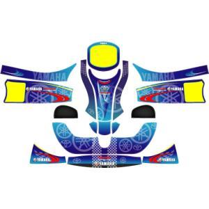 カウルステッカー YAMAHA フリーライン用 レーシングカートパーツ