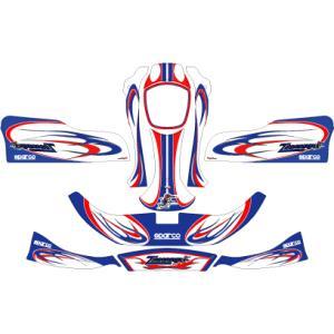 カウルステッカー ZANARDI 08  NA2用 レーシングカートパーツ star5