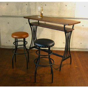 【送料無料】カウンターテーブル バーテーブル 幅110cmタイプ アンティークデザイン ミッドセンチュリー ブルックリンスタイル|star