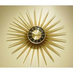 【送料無料】 GOLD SUN   デザイン時計 ミッドセンチュリー hawks_sale14 star