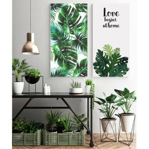 絵画 インテリア ファブリック 絵 植物 人気 30×60cm  壁掛け アートパネル リビング プレゼント アートフレーム 飾る 送料無料