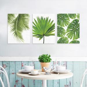 3枚セット 絵画 インテリア ファブリック 絵 植物 人気 30×40cm  壁掛け アートパネル リビング プレゼント アートフレーム 飾る 送料無料