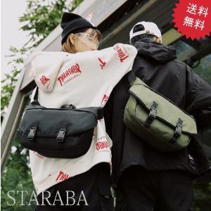STARABA ボディバッグ  防水 シンプル  ユニセックス  男女兼用  メンズ  レディース ...
