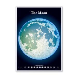 精密夜光月面図額装ポスター|starbook