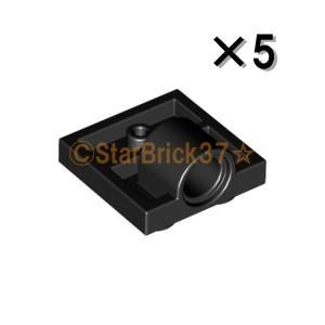 レゴ LEGO パーツ ばら売り プレート2×2(下に軸受け1個):ブラック(5個セット)|starbrick37-lego