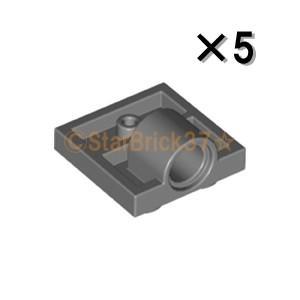 レゴ LEGO パーツ ばら売り プレート2×2(下に軸受け1個):ダークブルーイッシュグレイ(5個セット)|starbrick37-lego