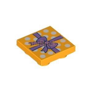 レゴ LEGO パーツ ばら売り 逆タイル2×2(プレゼントリボン):ブライトライトオレンジ starbrick37-lego