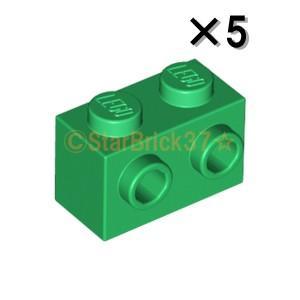 レゴ LEGO パーツ ばら売り ブロック1×2(片側面にスタッド有):グリーン(5個セット)|starbrick37-lego