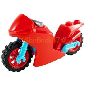 レゴ LEGO バイクパーツ ばら売り モトクロスバイク:レッド|starbrick37-lego