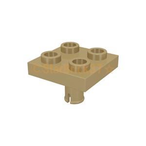 レゴ LEGO パーツ ばら売り プレート2×2(下部にペグ付) :ダークタン|starbrick37-lego