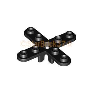 レゴ LEGO 飛行機パーツ ばら売り プロペラ(4枚刃・5スタッド分):ブラック|starbrick37-lego