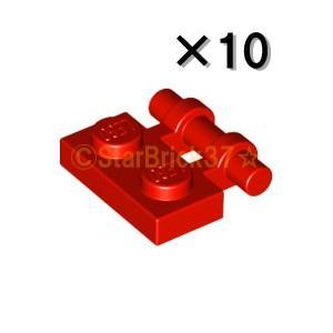 レゴ LEGO パーツ ばら売り プレート1×2サイドハンドル(フリーエンド):レッド(10個セット)|starbrick37-lego