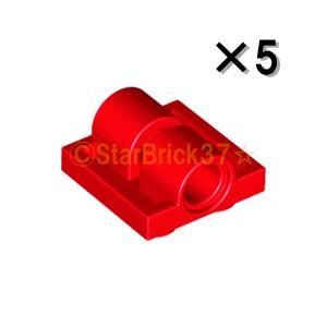 レゴ LEGO パーツ ばら売り プレート2×2(下に軸受け2個):レッド(5個セット)|starbrick37-lego