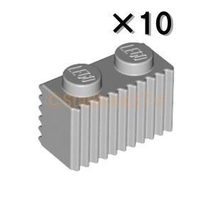 レゴ LEGO パーツ ばら売り ブロック1×2グリル:ライトブルーイッシュグレイ(10個セット)|starbrick37-lego