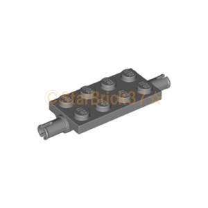 レゴ LEGO 車パーツ ばら売り プレート2×4(両側ペグ付):ダークブルーイッシュグレイ|starbrick37-lego