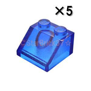 レゴ LEGO パーツ ばら売り スロープ45度2×2:トランスダークブルー(5個セット) starbrick37-lego