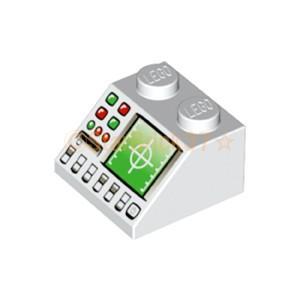 レゴ LEGO パーツ ばら売り プリントスロープ45度2×2(レーダー):ホワイト starbrick37-lego